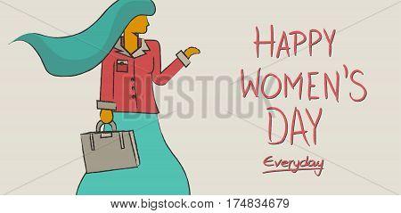 Happy International Womens Day Concept Design