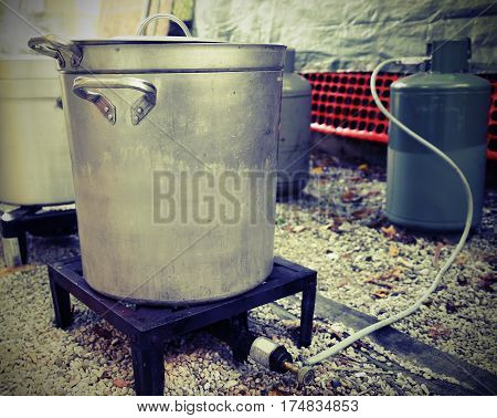 Kitchen For The Preparation Of Food For Many People