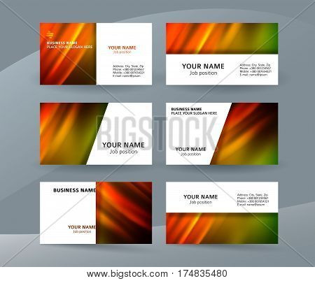 Business Card Layout Template Set34