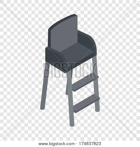 Tennis referee chair isometric icon 3d on a transparent background vector illustration