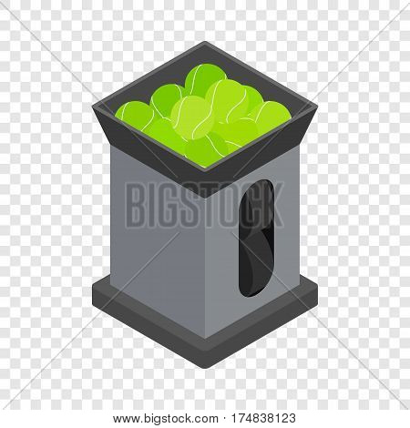 Tennis ball machine isometric icon 3d on a transparent background vector illustration