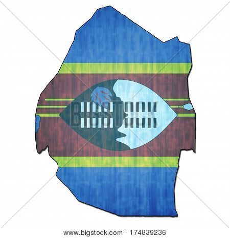 Swaziland Territory With Flag