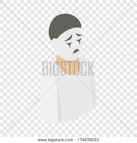 Mime isometric icon 3d on a transparent background vector illustration