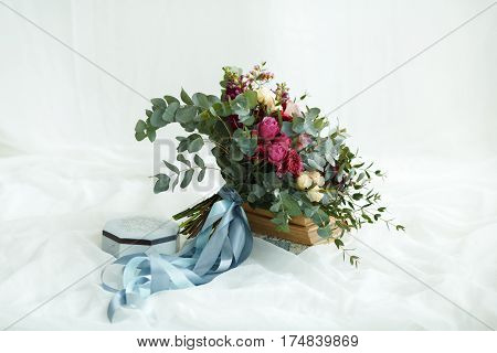 Wedding Fine Art Bouquet With Eucalyptus And Rose