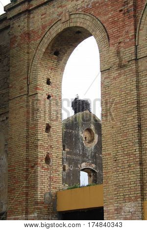 the ruins of the old brick factory in Spain