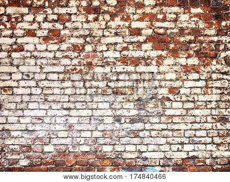 White Brick Wall Texture With Grunge Effect