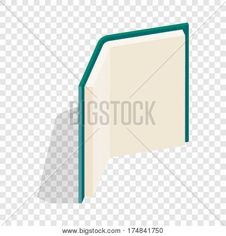 Open book stands upright isometric icon 3d on a transparent background vector illustration