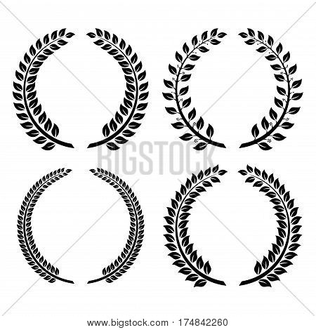 Vector logo in the Greek style wreath of ears.
