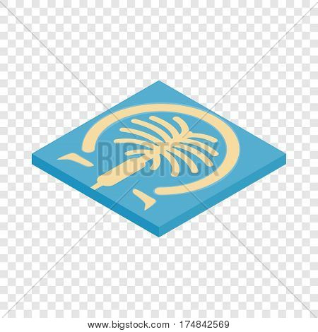 Artificial islands in Dubai isometric icon 3d on a transparent background vector illustration