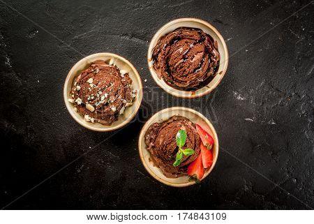 Three Kinds Of Chocolate Ice Cream