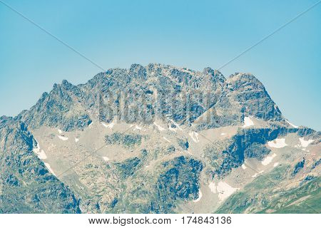 Mountain landscape. Caucasus spring view in the daytime