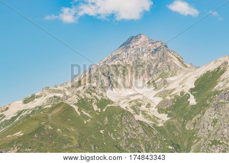 Mountain landscape. Caucasus autumn view in the daytime