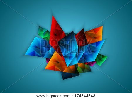 Abstract colorful facet vector, illustration vector, eps 10