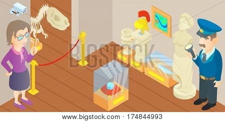 Museum concept. Cartoon illustration of museum vector concept for web