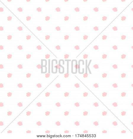 Polka dots, brush dot seamless pattern. Pink dots. Grunge Dots Vector. Trendy design. Stylish futuristic background. Fabric Print, Textile, Texture