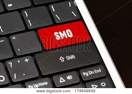 Smo On Red Enter Button On Black Keyboard