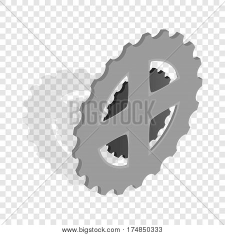 Bike chain star isometric icon 3d on a transparent background vector illustration