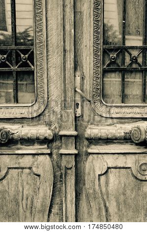 Old Wood Wooden Door Close Up