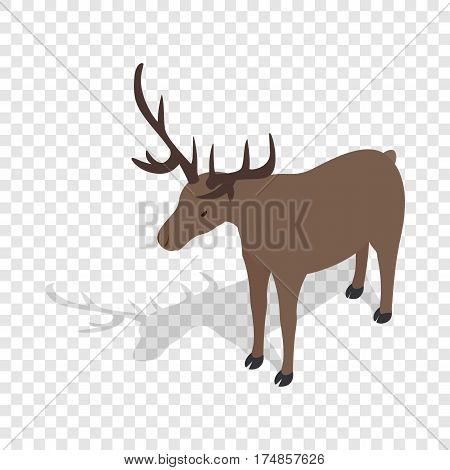 Deer isometric icon 3d on a transparent background vector illustration