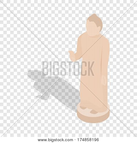 Giant Buddha statue, Sri Lanka isometric icon 3d on a transparent background vector illustration