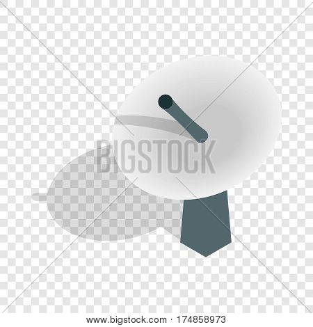 Satellite dish antenna radar isometric icon 3d on a transparent background vector illustration
