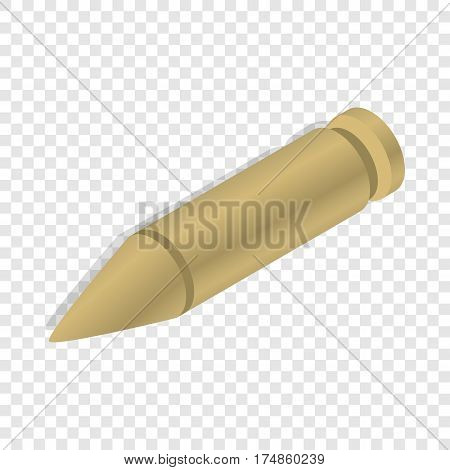 Bullet isometric icon 3d on a transparent background vector illustration