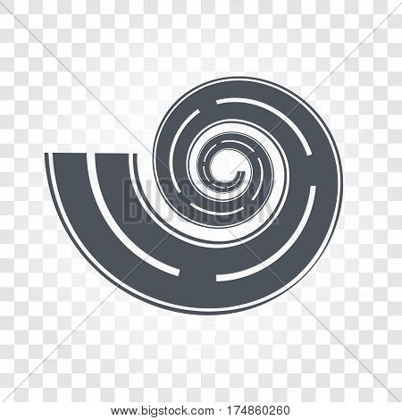 Isolated black color road or highway with dividing markings on checkered background vector illustration