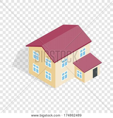 Two storey house isometric icon 3d on a transparent background vector illustration