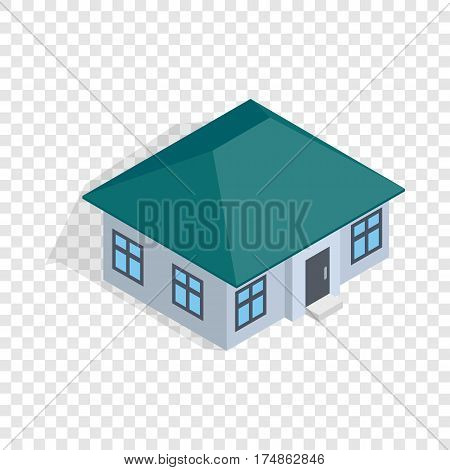 One storey house isometric icon 3d on a transparent background vector illustration