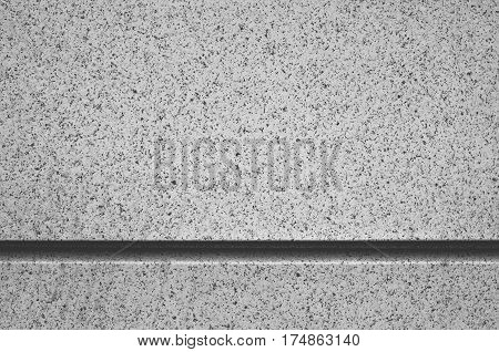 Facade Composite Panels as Background. Horizontal seam. Black and white photo