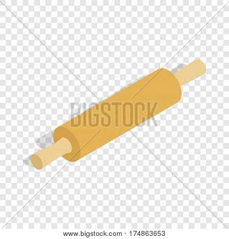 Rolling pin isometric icon 3d on a transparent background vector illustration