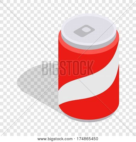 Carbonated drink isometric icon 3d on a transparent background vector illustration