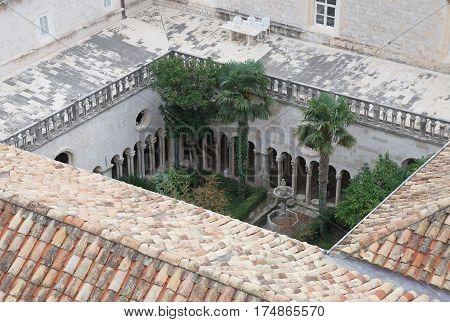 Kloster in old city of Dubrovnik, Croatia