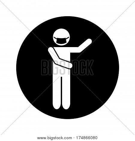 figure human with mouthcap vector illustration design