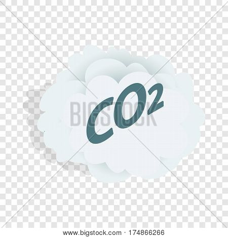 CO2 cloud isometric icon 3d on a transparent background vector illustration