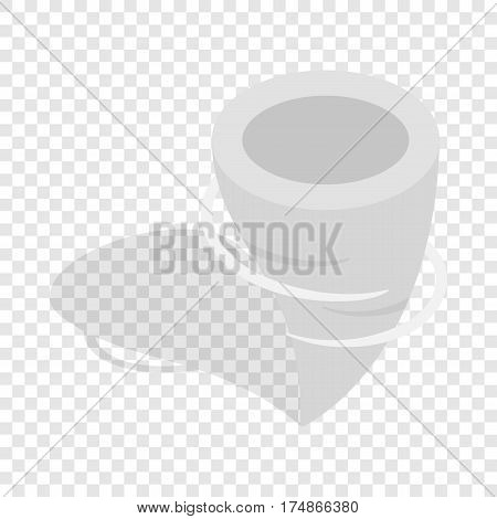 Tornado isometric icon 3d on a transparent background vector illustration