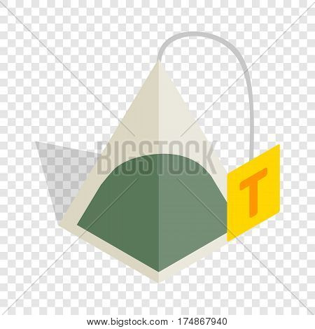 Teabag isometric icon 3d on a transparent background vector illustration