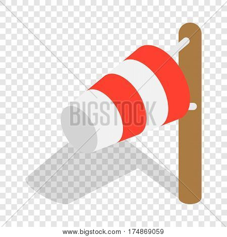 Windsock isometric icon 3d on a transparent background vector illustration