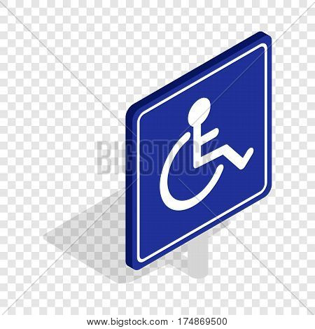 Disabled handicap isometric icon 3d on a transparent background vector illustration