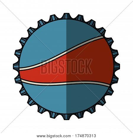 soda metal cap isolated icon vector illustration design
