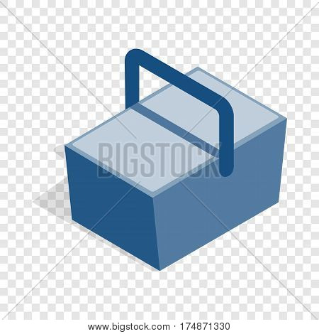 Bag refrigerator isometric icon 3d on a transparent background vector illustration