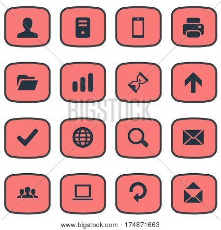 Vector Illustration Set Of Simple Practice Icons. Elements User, Refresh, Dossier And Other Synonyms Community, Folder And Dossier.