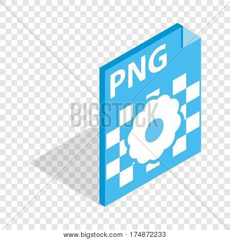 PNG image file extension isometric icon 3d on a transparent background vector illustration