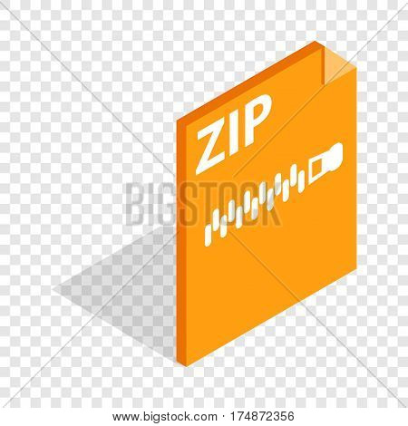 Archive ZIP format isometric icon 3d on a transparent background vector illustration