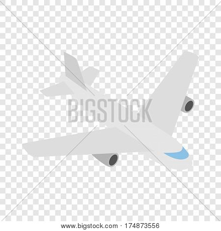 Plane isometric icon 3d on a transparent background vector illustration