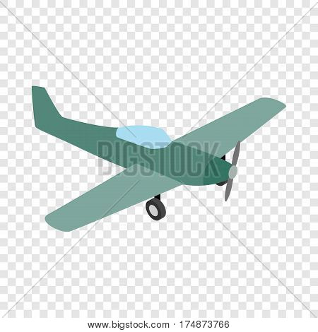 Small plane isometric icon 3d on a transparent background vector illustration