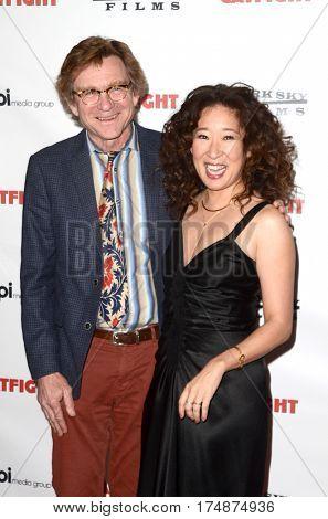 LOS ANGELES - MAR 2:  Jim Turner, Sandra Oh at the