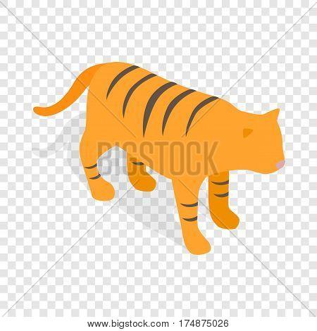 Tiger, symbol of South Korea economics isometric icon 3d on a transparent background vector illustration