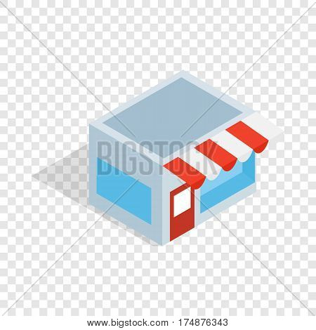 Shop isometric icon 3d on a transparent background vector illustration