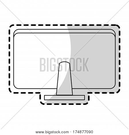 computer monitor rearview office supplies icon image computer office supplies icon image vector illustration design